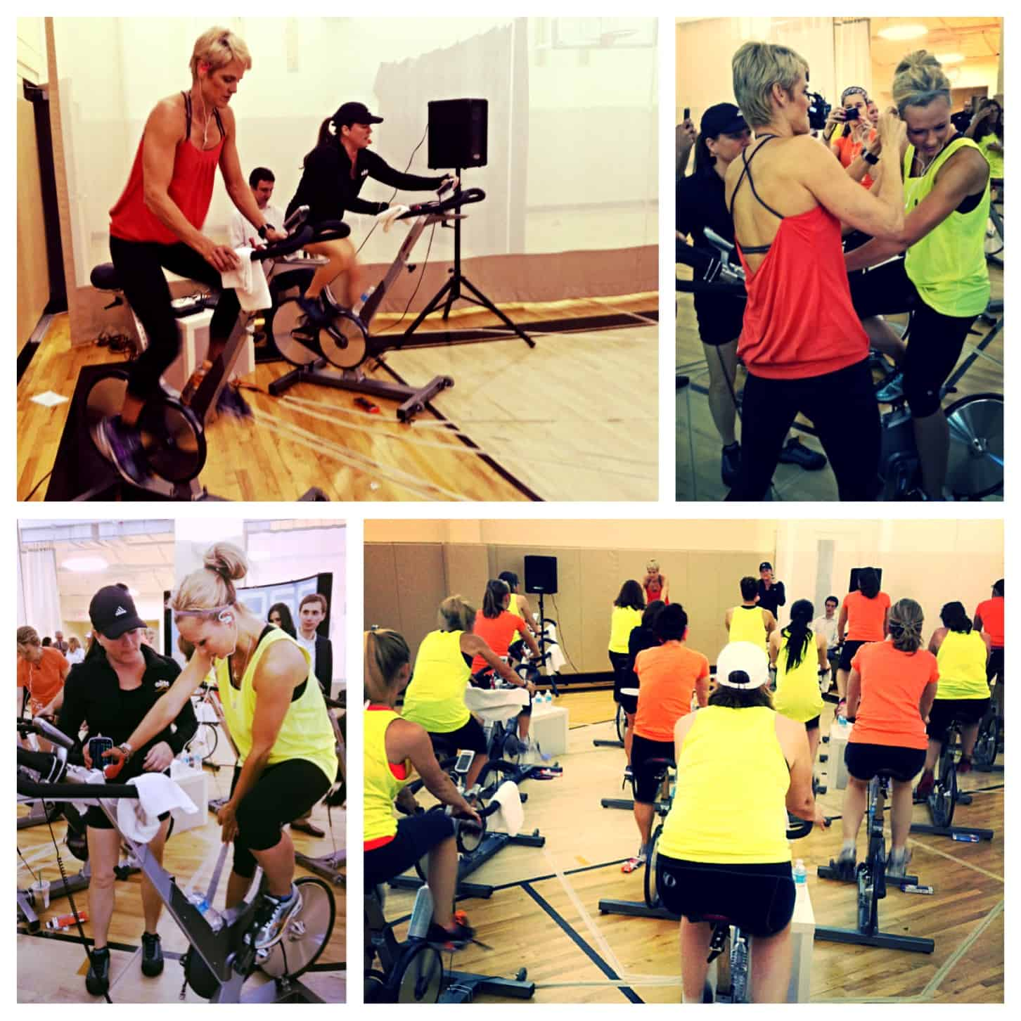 Elite spin class with Olympian Dara Torres, led by Elite Group Ex Director, Annie Farley.