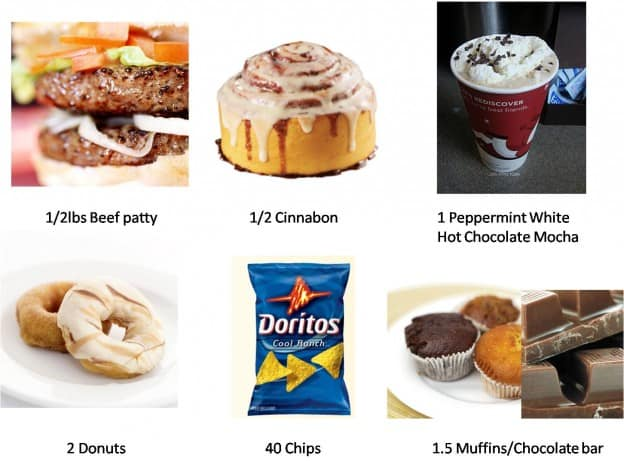 Here's what 500 calories of food looks like! Each of these is 500cal!