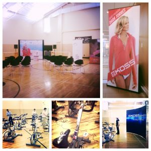 Getting all set up for Dara Torres and Koss at Elite Sports Club-Mequon! — at Elite Sports Club-Mequon.