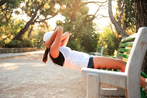 Park Bench Ab Workout