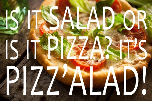 Pizzalad Salad Pizza