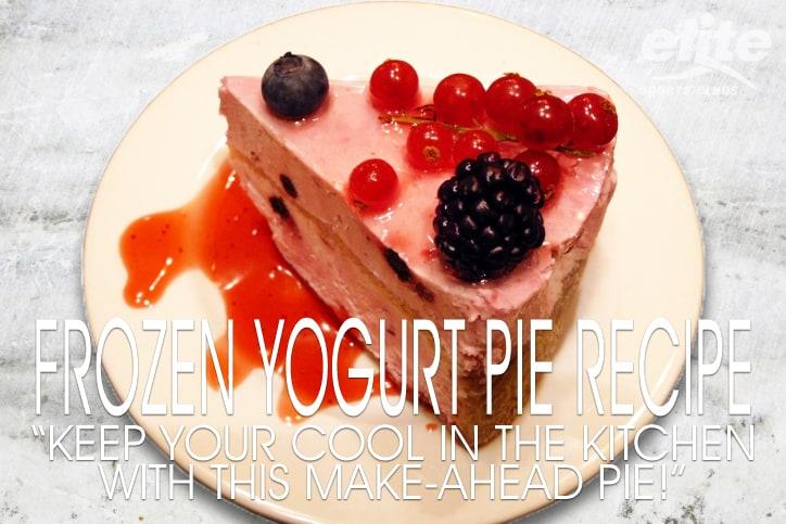 Healthier Holiday Dessert - Frozen Yogurt Pie Recipe