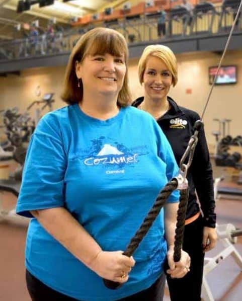 Sue and Elite Sports Clubs Trainer Melissa