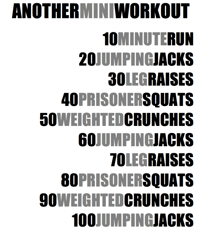 Another Mini Workout