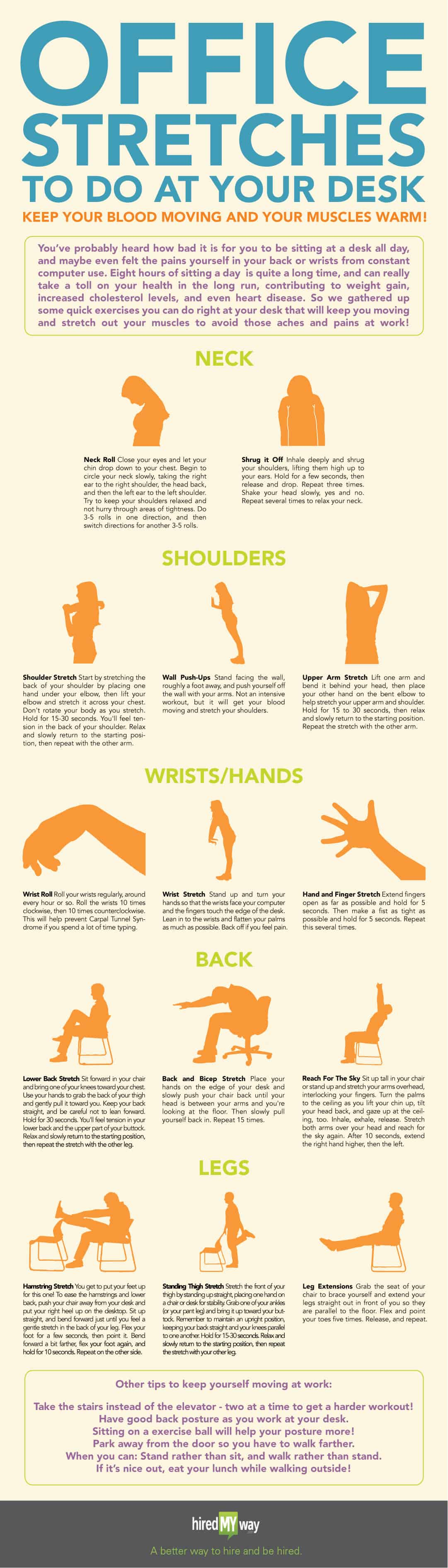 Office Stretches Infographic