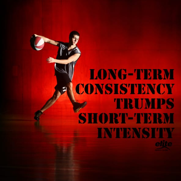 Long-Term Consistency Trumps Short-Term Intensity