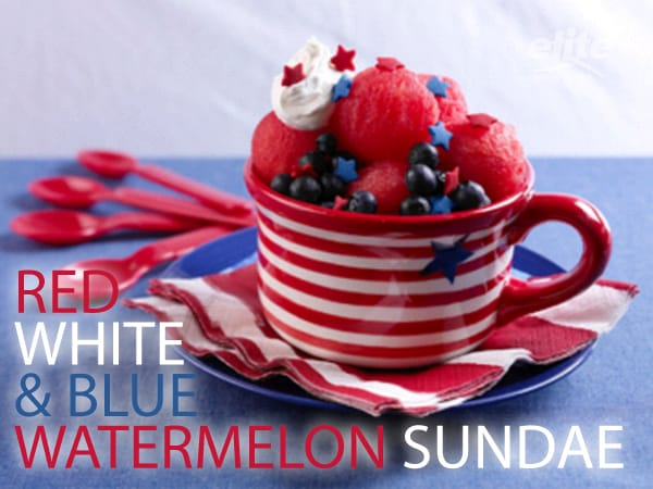 "Red, White, and Blue Watermelon ""Sundae"" Recipe"