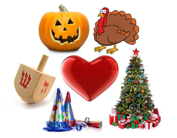 Halloween-Thanksgiving-Hanukkah-Christmas-New-Year-Valentines Day