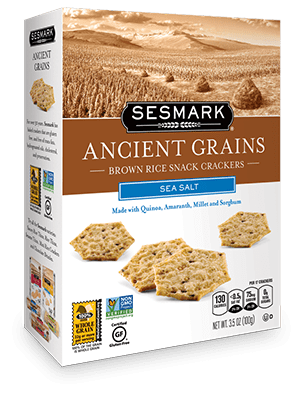 Sesmark Ancient Grains all natural snack crackers