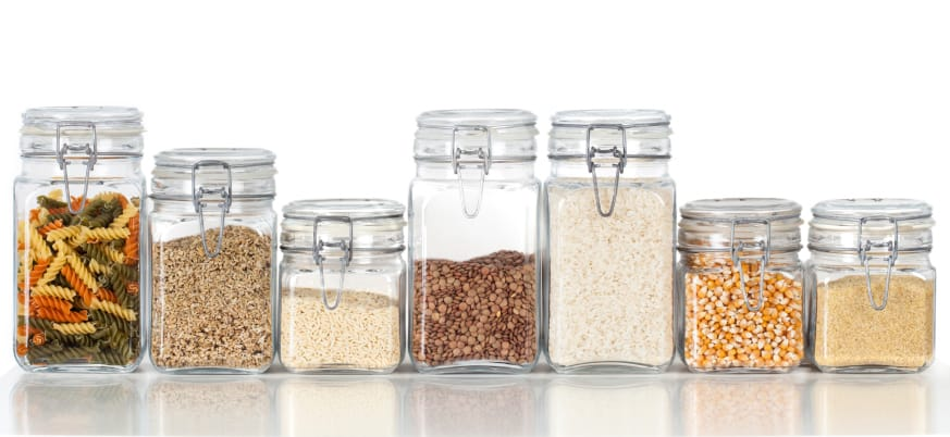 Grains in Jars