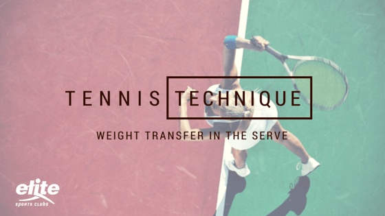 Tennis Technique - Weight Transfer in the Serve