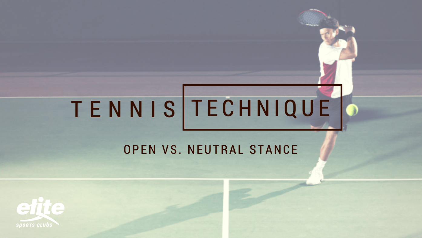 Tennis Technique - Open Stance vs. Neutral Stance for Ground Strokes