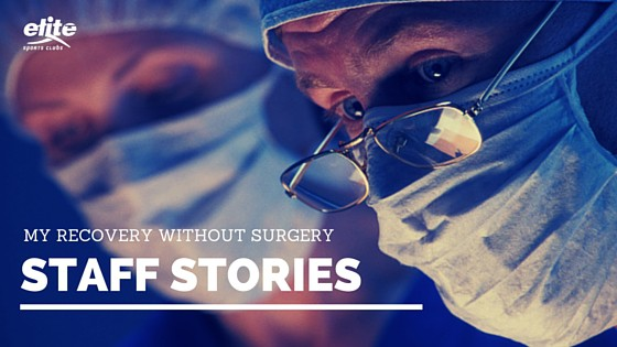 Staff Stories My Recovery Without Surgery