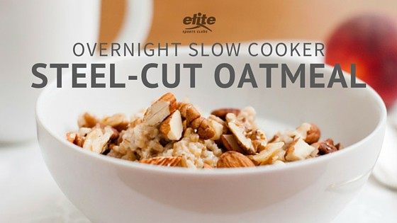 Overnight Slow Cooker Steel-Cut Oatmeal