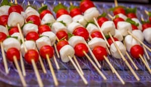 Tomato Basil Skewers Appetizer