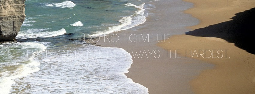 Do not give up,the beginning is always the hardest. (1)