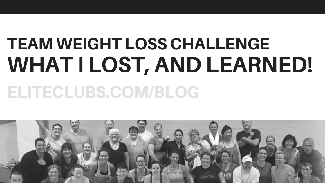 Team Weight Loss Challenge - What I Lost, and Learned!