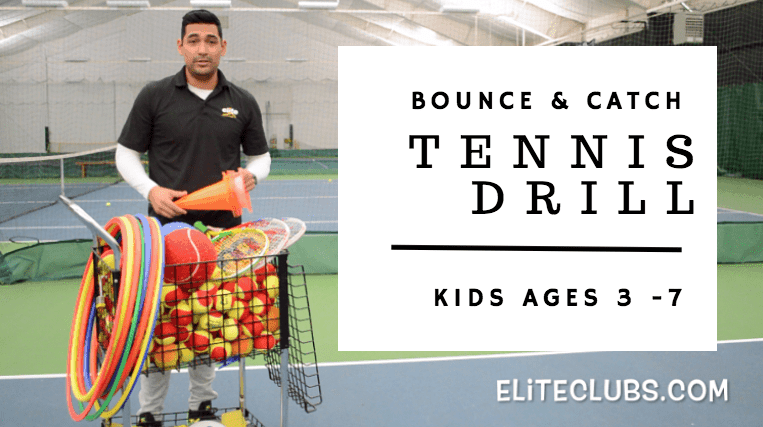 Bounce Catch Tennis Drill | Kids Ages 3 to 7 Years