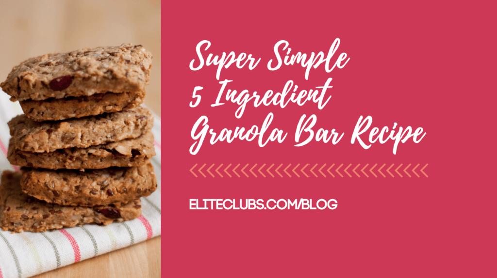 Super Simple 5 Ingredient Granola Bar Recipe