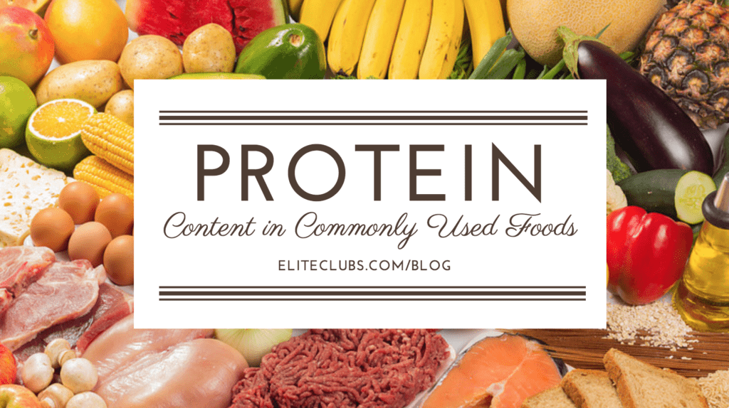 Protein Content in Commonly Used Foods