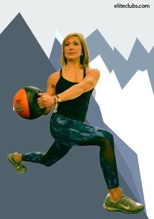 Ski Prep Workout - Medicine Ball Lunge With Rotation