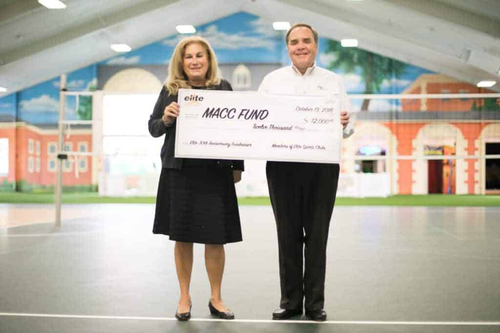 Elite MACC Fund Donation at The Quad Oct 2016