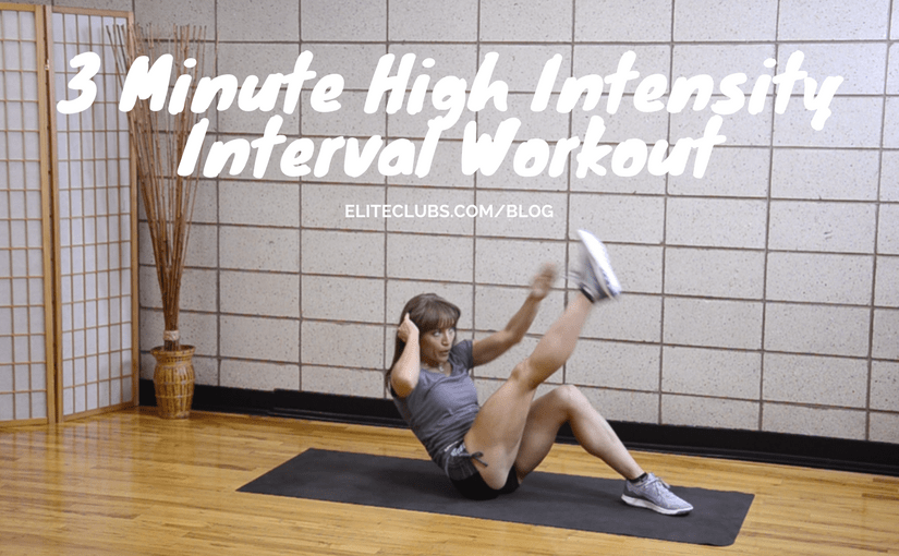 3 Minute High Intensity Interval Workout