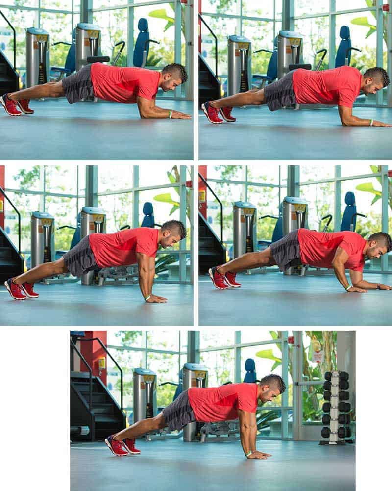 4 Count Plank-ups