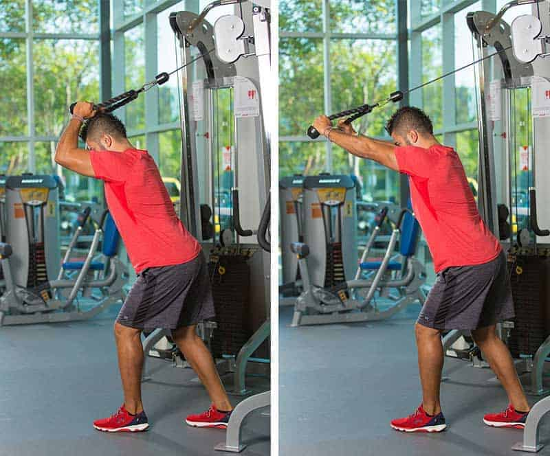 Cable Rope Extension Tricep Exercise