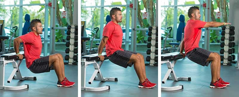 Triceps Dips with Rotation