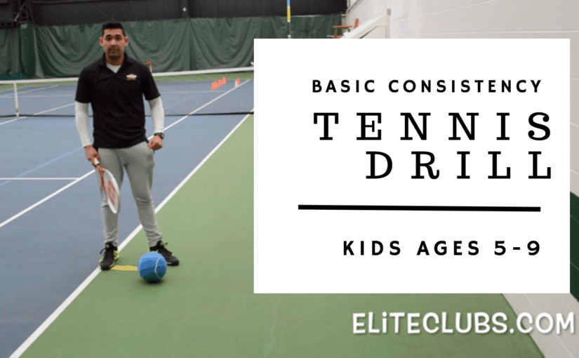 Basic Consistency Tennis Drill for Kids Ages 5-9