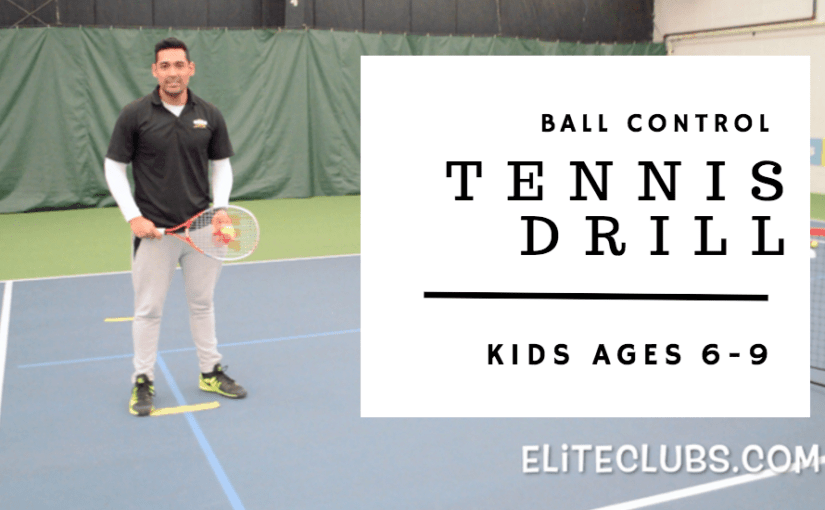 Ball Control Tennis Drill for Kids Ages 6-9