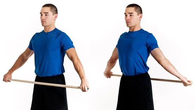 shoulder stretch stick