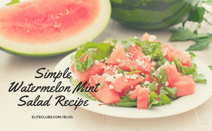 Simple Watermelon Mint Salad Recipe