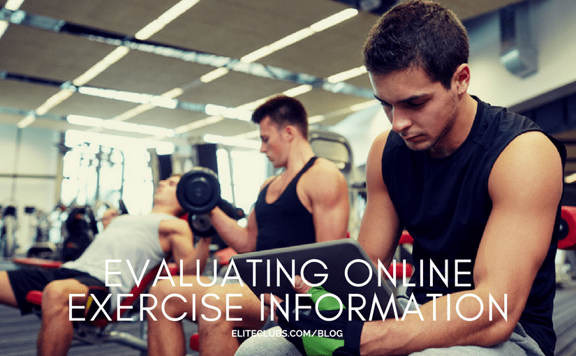 Evaluating Online Exercise Information