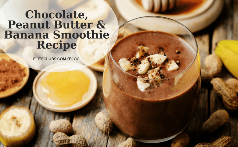 Chocolate, Peanut Butter & Banana Smoothie Recipe