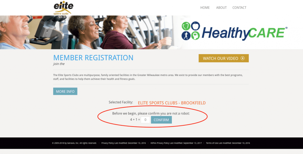 Genavix HealthyCARE 90-Day Program Registration Landing Page