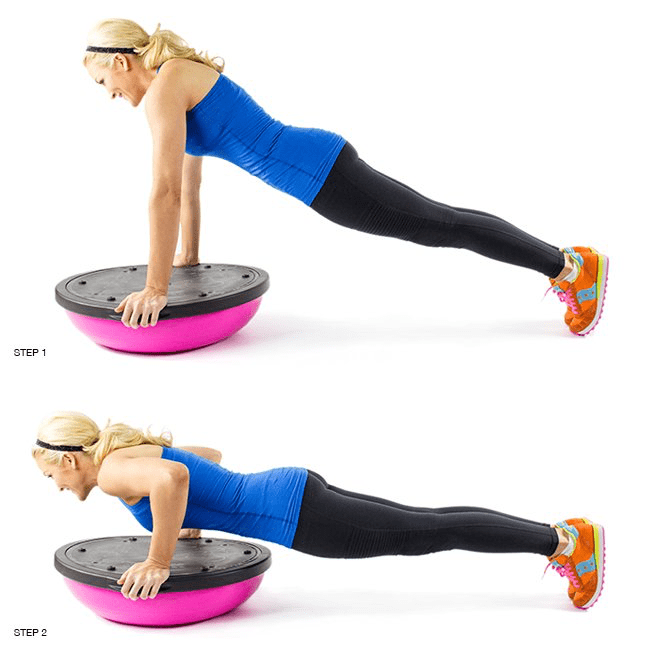 Bosu Ball For Beginners: Beginner's Guide To The Bosu Ball Push-Up