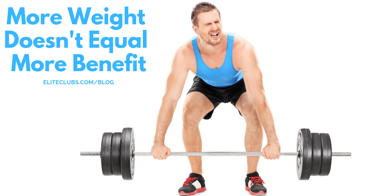 More Weight Doesn't Equal More Benefit
