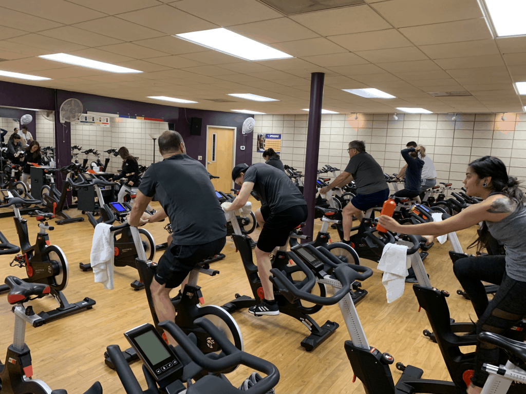 Spin Class - cardio exercises