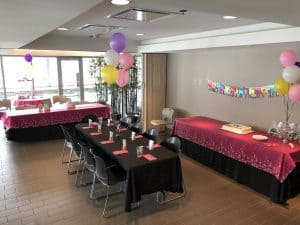 Birthday Party Room Setup at Elite Sports Clubs