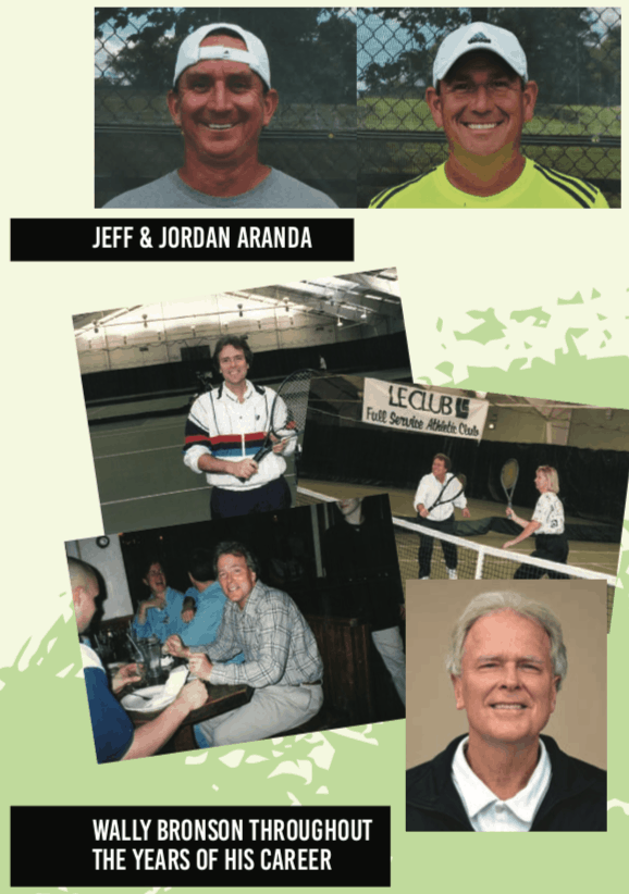 Jeff & Jordan Aranda and Wally Bronson at Elite Sports Club-River Glen