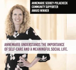 Annemarie Scobey-Polacheck - Winner of 2019 Women of Influence Award - Community Supporter
