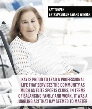 Kay Yuspeh - Winner of 2019 Women of Influence Award - Entrepreneur