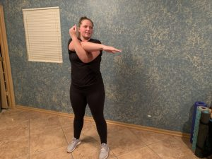 Cross-Body Shoulder Stretch example