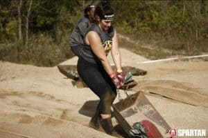 Jamie Wimberly competing in a Spartan event
