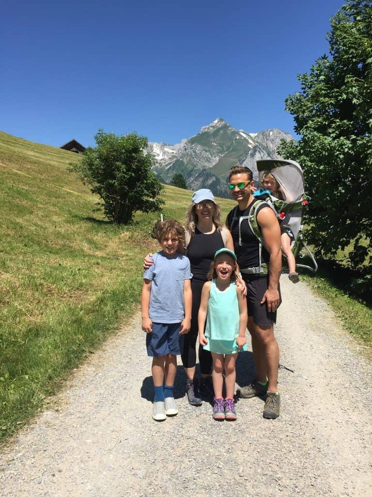 Russ Sagmoen and Family Hiking in Switzerland