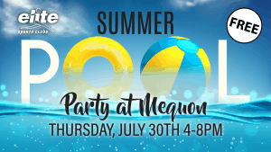 Summer Pool Party at Elite Mequon July 2020