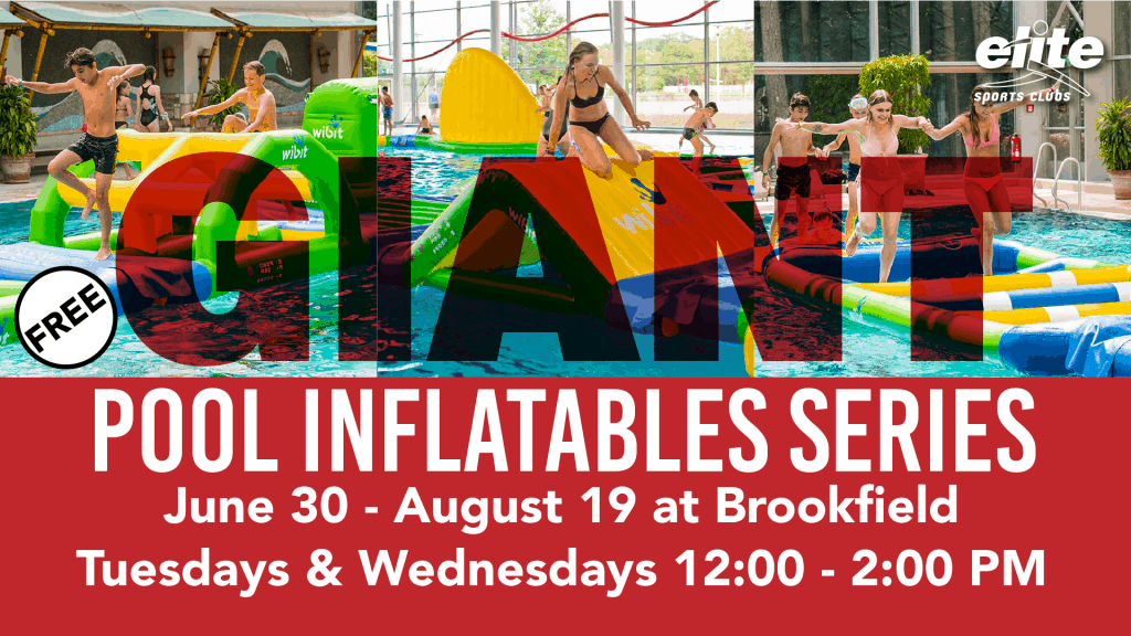 Giant Pool Inflatables at Elite Brookfield Summer 2020