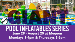 Giant Pool Inflatables at Elite Mequon Summer 2020